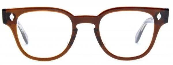 画像1: JULIUS TART OPTICAL/ジュリアス タート オプティカル【BRYAN】Brown Crystal  46サイズ
