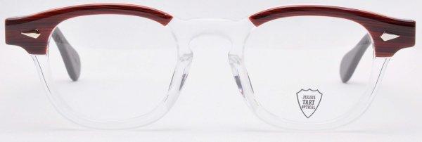 画像1: JULIUS TART OPTICAL/ジュリアス タート オプティカル【AR】Red Wood/Clear 46サイズ