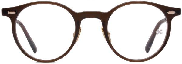 画像1: 蒲池眼鏡舗 限定モデル OG × Oliver Goldsmith/オージーバイ・オリバーゴールドスミス【Re:YORK】115-2 Matt Clear Brown 46サイズ