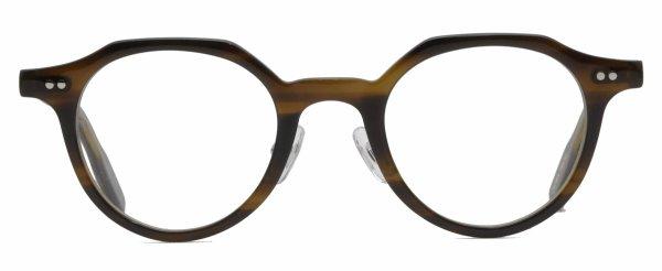 画像1: 蒲池眼鏡舗オリジナル【CROWN PANTO】 brown 44サイズ