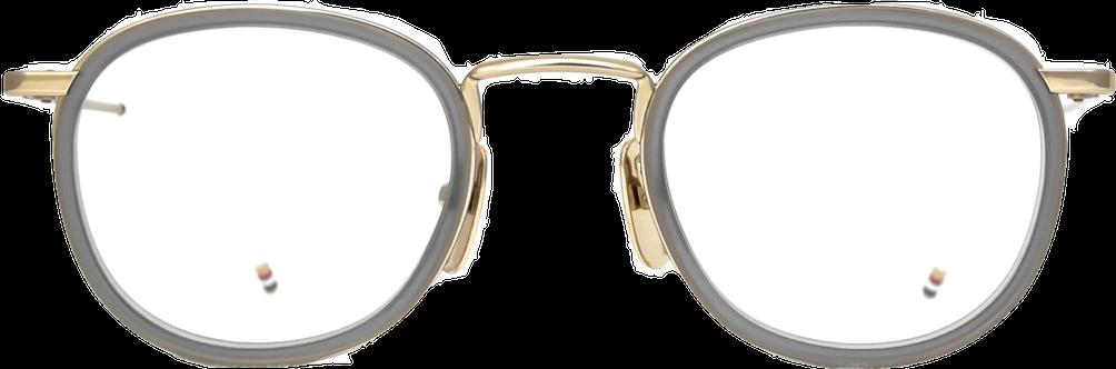 9a1ee687dd19 THOM BROWNE トム ブラウン TB-710 GLD-GRY 46サイズ - 蒲池眼鏡舗